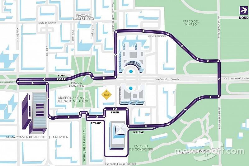 Формула E представила схему трассы в Риме