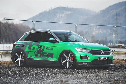 VW T-Roc Tuning mit Luftfahrwerk und Dotz-Felgen