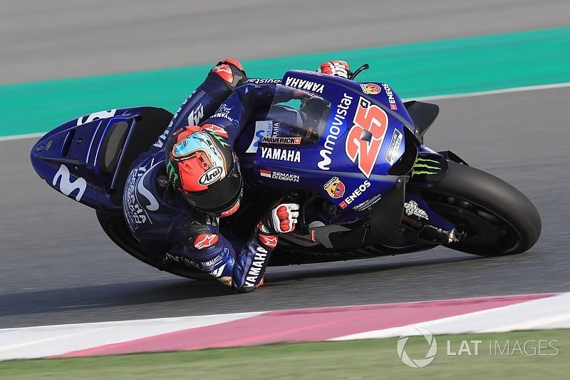 Maverick Viñales se impone en el test de Qatar