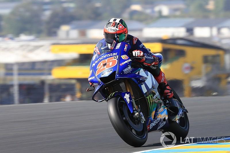 MotoGP-Training: Vinales holt Last-Minute-Bestzeit