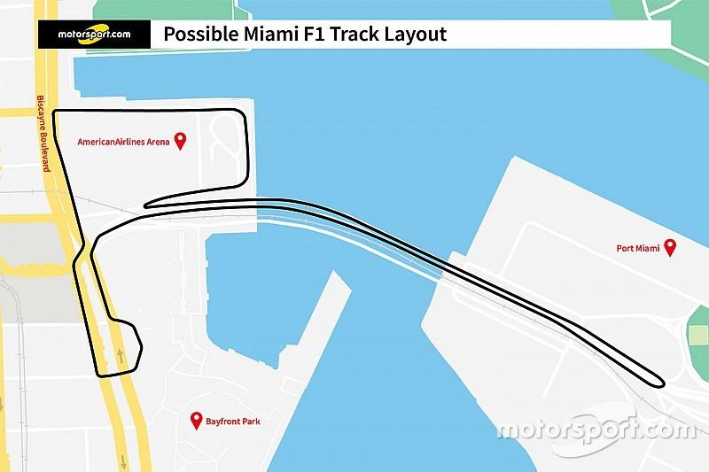 マイアミGPのレイアウト案が初公開。橋を渡るバクー似のコースに