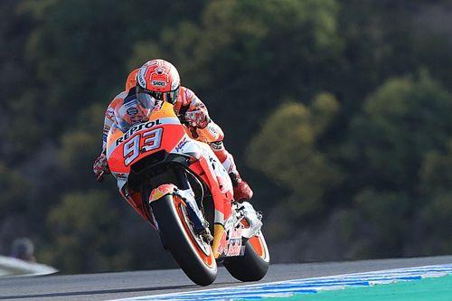 MotoGP Jerez Warm-up: Dritter Sturz und Bestzeit für Marquez