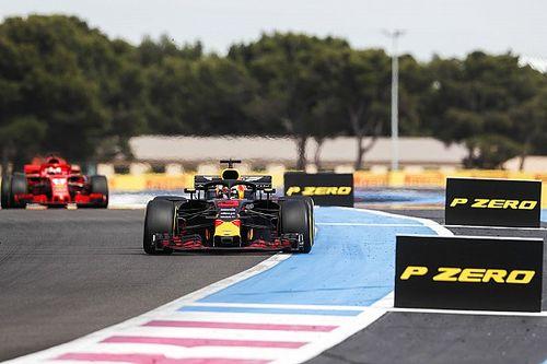 Ricciardo è stato rallentato da un problema all'ala anteriore della sua Red Bull