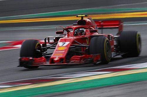 Räikkönen iba a una estrategia de una detención en boxes