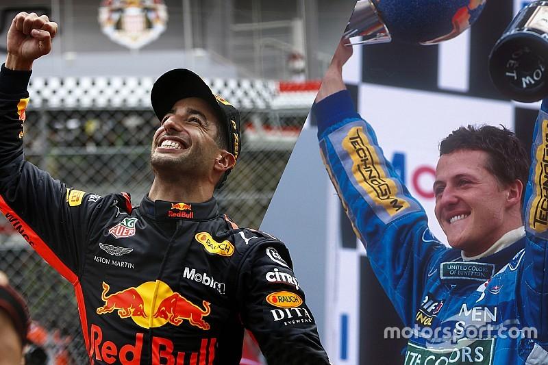 Ricciardo versus Schumacher, wat was de beste prestatie?