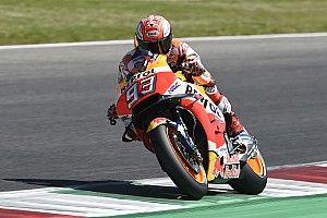 Marquez terjatuh saat balapan di Mugello