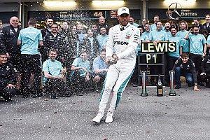 """Hamilton reconoce que su victoria en Bakú se siente """"un poco rara"""""""