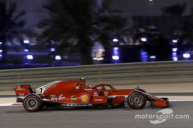 رايكونن يتقدّم ثنائيّة فيراري قبل توقف سيارته في التجارب الثانية في البحرين