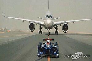 VEJA: Carro da F-E disputa corrida com aviões em vídeo