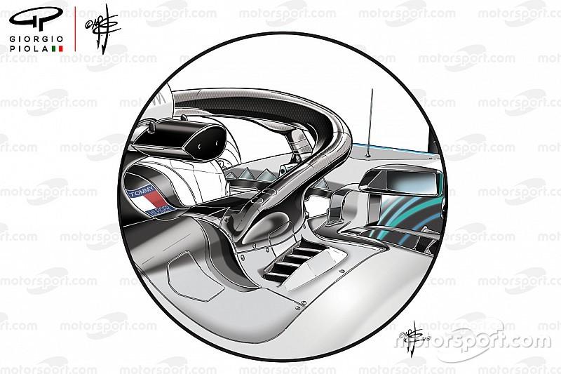 Análisis Técnico: cómo trata Mercedes sus problemas de enfriamiento