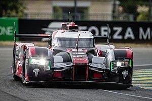Both Audi cars on third row at Le Mans