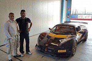 Nicola Larini nella Lotus Cup Italia ad Imola con LG Motorsport