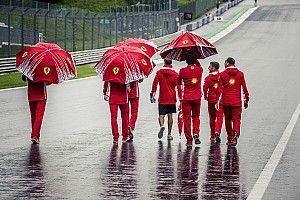Шпильберг встречает дождем. Лучшие фото первого дня Гран При Австрии
