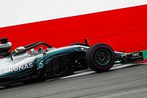 Hamilton y Bottas mantuvieron a Mercedes al frente en Austria
