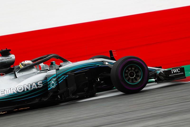 奥地利大奖赛FP2:汉密尔顿维持速度优势