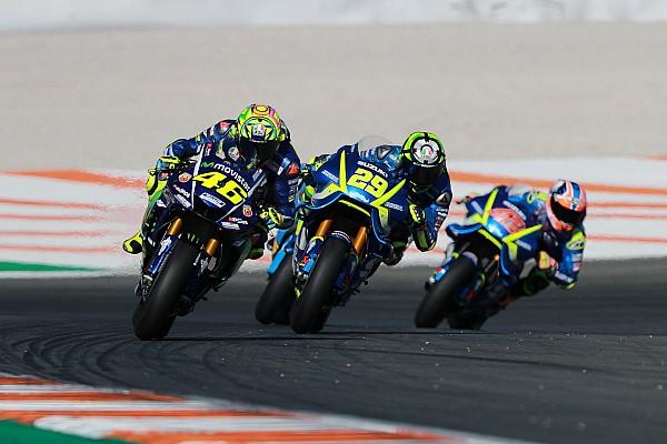 Rossi y Viñales corrieron con el chasis de 2016 en Valencia