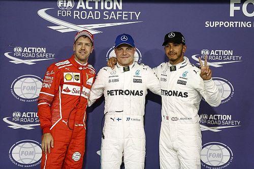 De startopstelling voor de Grand Prix van Abu Dhabi