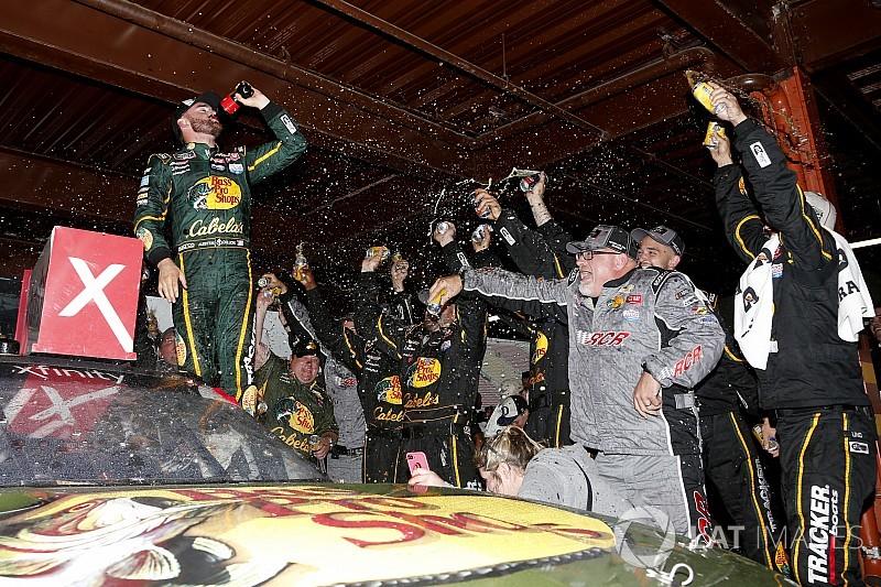 Austin Dillon wins rain-shortened Xfinity race at Michigan