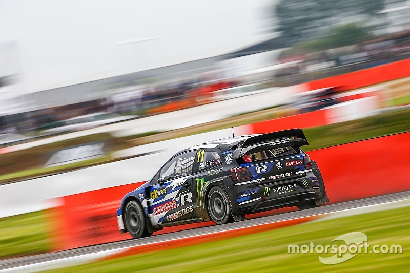 Silverstone World RX: Solberg leads Ekstrom after Saturday