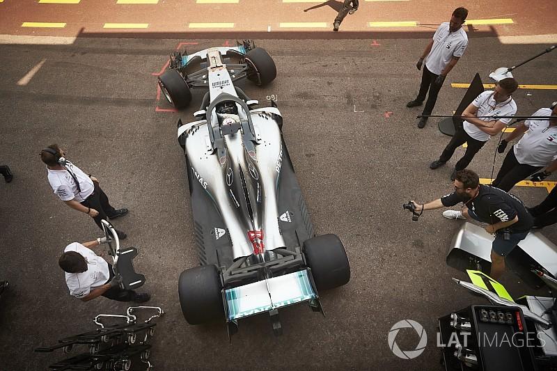 Mercedes, Fransa'da Pirelli'nin lastiklerini test ediyor