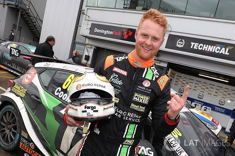 Donington BTCC: Cook clinches maiden pole in tight qualifying