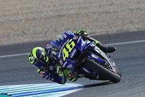 Hoge temperaturen spelen Rossi parten in Jerez