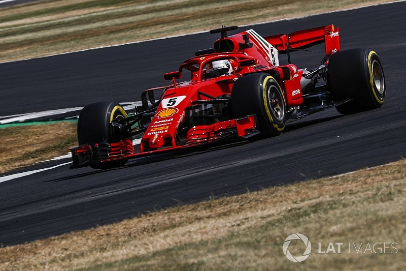 British GP: Vettel quickest in FP2 as Verstappen crashes