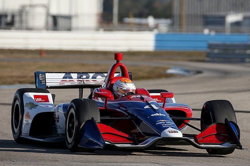 St. Pete IndyCar: Rookie Leist puts AJ Foyt Racing on top in FP1
