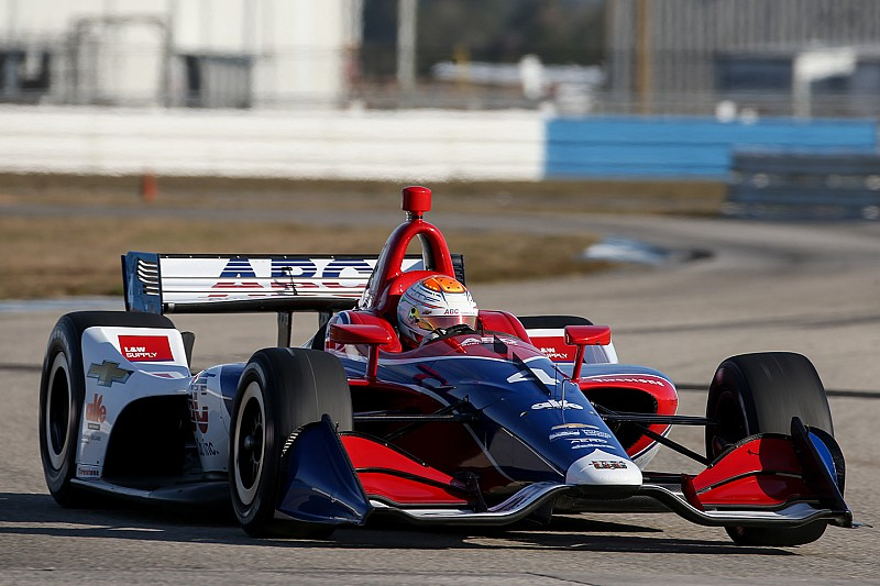 St. Pete IndyCar: Rookie Leist puts AJ Foyt Racing on top in FP1