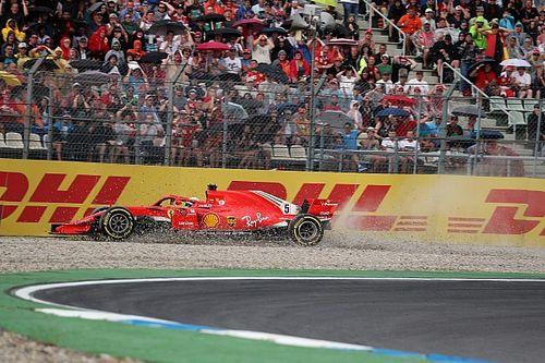 Así fue el accidente de Vettel cuando lideraba el GP Alemania