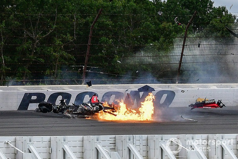 Fotogallery: ecco la sequenza del terribile incidente di Robert Wickens a Pocono