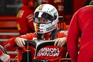 "Vettel critica la gran ""mierda"" de no poder cambiar de casco"