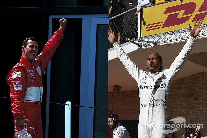 Comparación los 6 títulos de Schumacher y Hamilton