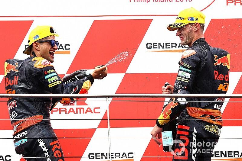 Binder et Martín offrent un doublé à KTM, Márquez effacé
