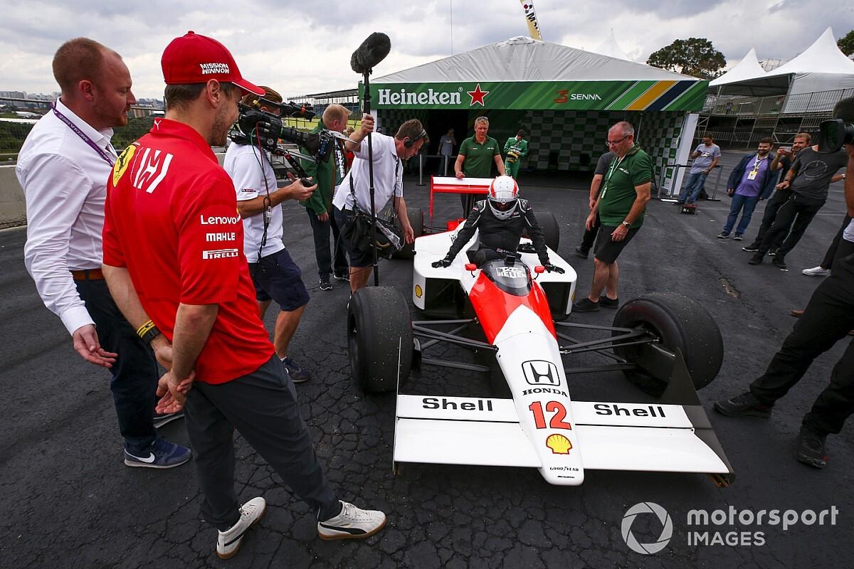 Vettel nem bírta ki, ott kellett lennie a legendás McLaren mellett
