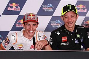 """Rossi: """"Marquez all'apice? E' giovane, può ancora migliorare"""""""