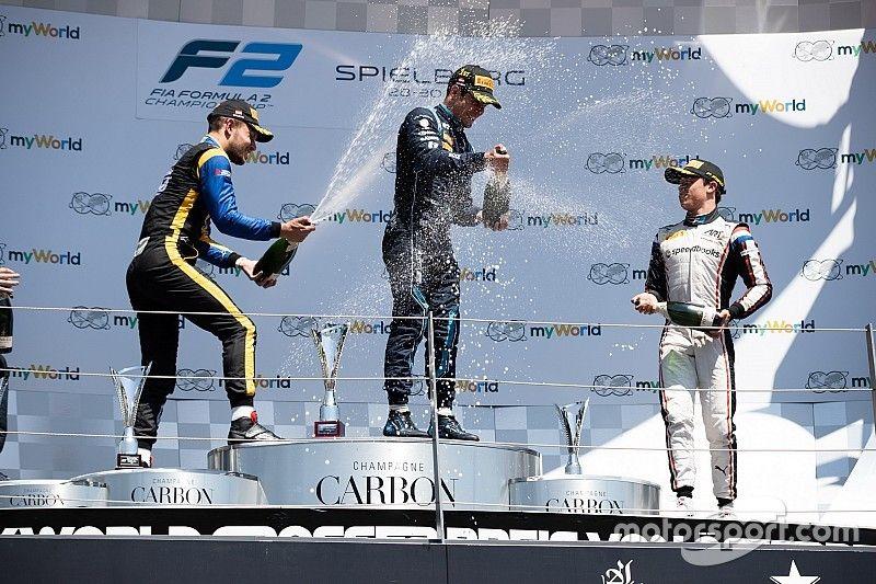 Sette Camara vence en Austria con una gran remontada de Schumacher