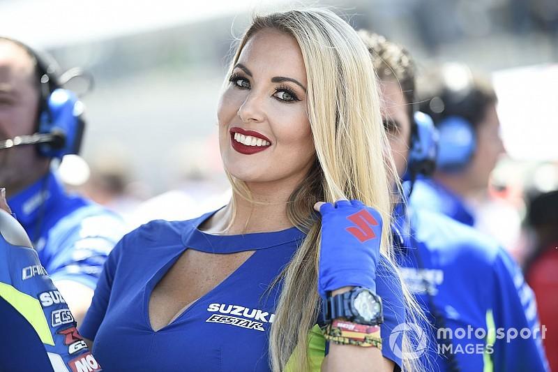 A MotoGP jerezi rajtrácslányai: képgaléria