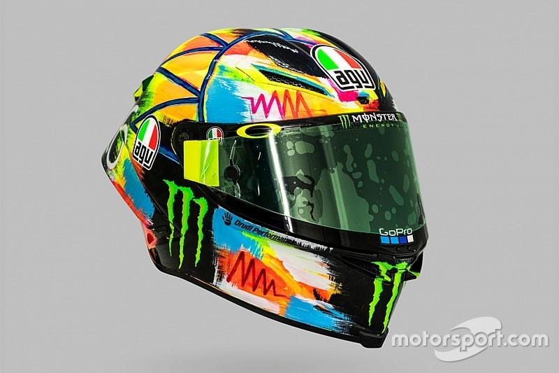 In beeld: Alle wintertest-helmen van Valentino Rossi