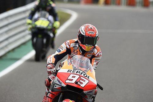 MotoGP, Termas de Rio Hondo, Libere 3: Marquez alza la voce, Dovi cade ma è in Q2
