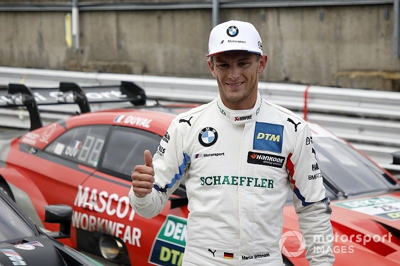 Brands Hatch DTM: Wittmann grabs pole on drying track