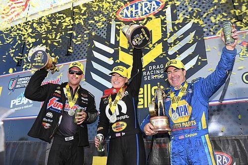 Pritchett, Capps, Line win Lucas Oil NHRA Nationals