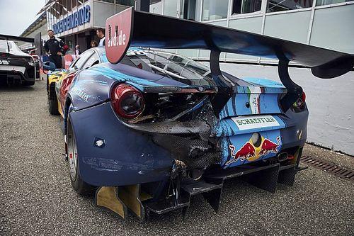 """Lawson """"fortunate"""" to finish DTM race after van der Linde clash"""