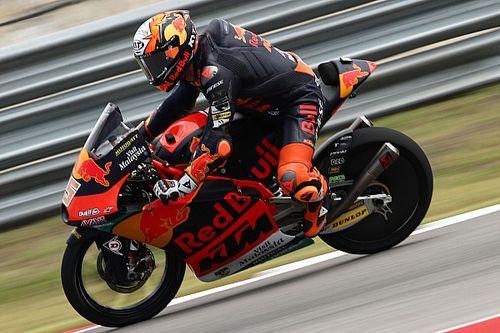 Moto3アメリカズ予選:ランク首位アコスタ、15番手と沈む。タイトル争うフォッジア2番手、差を縮めるチャンス大