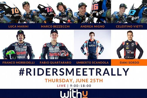 WRC e MotoGP assieme per WITHU Experiences - Riders meet Rally