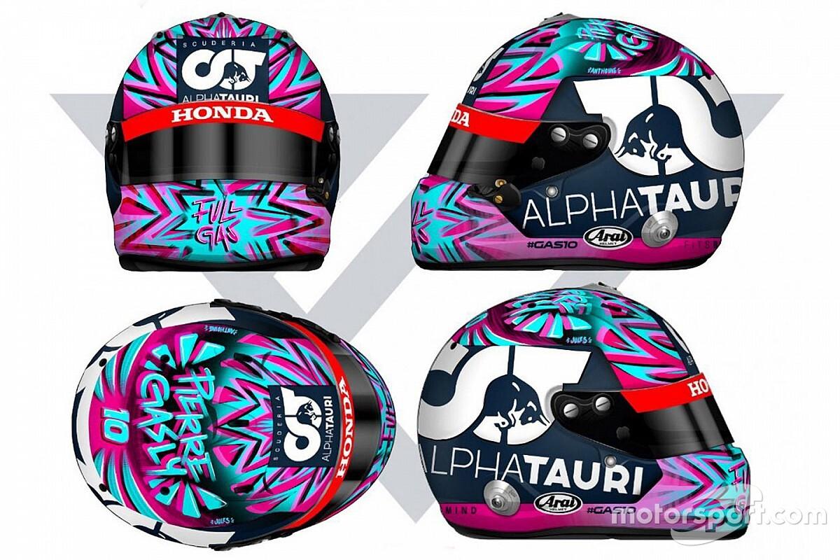 Gasly, 2020'nin ilk yarışında kullanacağı kask tasarımını tanıttı