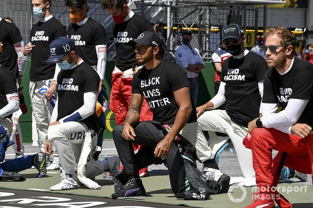 汉密尔顿将继续支持种族平等行动