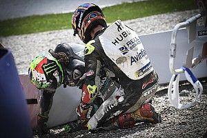 Zarco habló con Rossi tras el fuerte accidente en Austria
