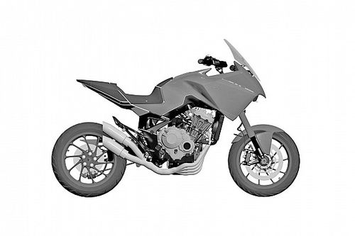 Honda Files Patent For Four-Cylinder ADV Bike