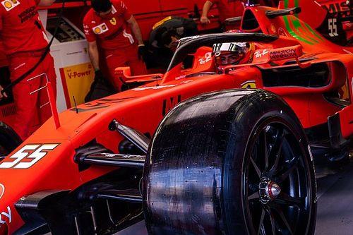 Ferrari: Sainz gira in Bahrain con le gomme Pirelli da 18
